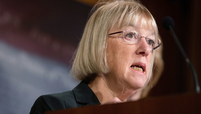 Senator Patty Murray, a Democrat from Washington, speaks during a news conference