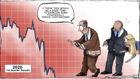 Portfolio performance cartoon