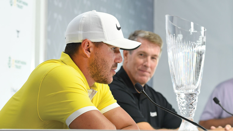 Pro golfer Brooks Koepka tees off on risk to take prize in inaugural Aon competition