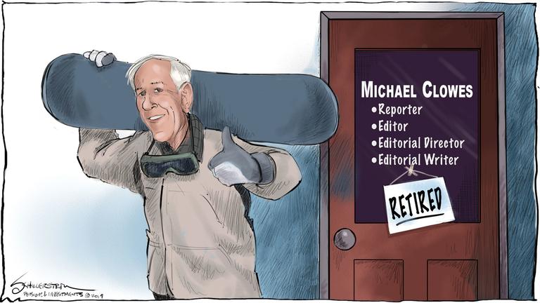Mike Clowes cartoon
