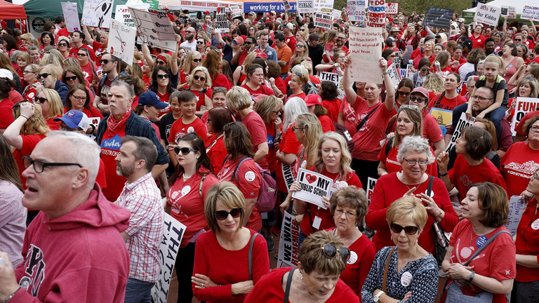 Kentucky teachers face off with GOP in governor's race
