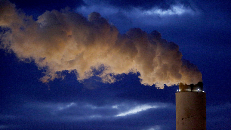 Emissions rise from the coal fired power plant in South Carolina.