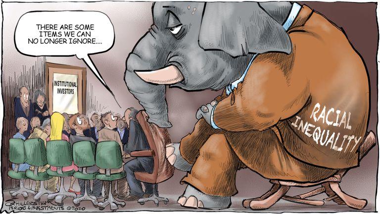 Racial inequality cartoon