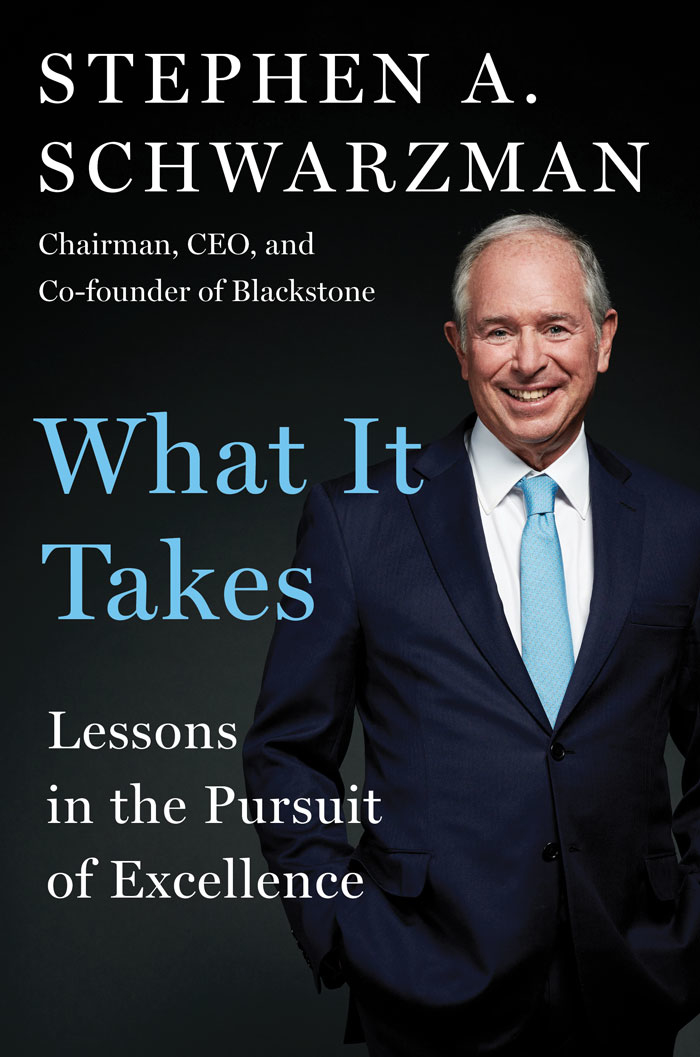 Blackstone's Schwarzman shares life lessons in new book