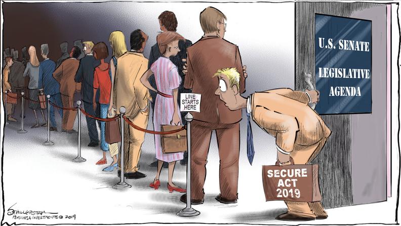 SECURE Act cartoon