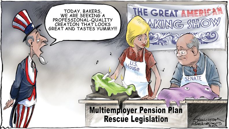 Multiemployer fund legislation cartoon