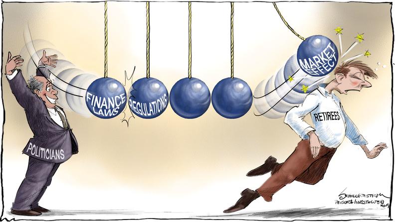 Pension regulation cartoon