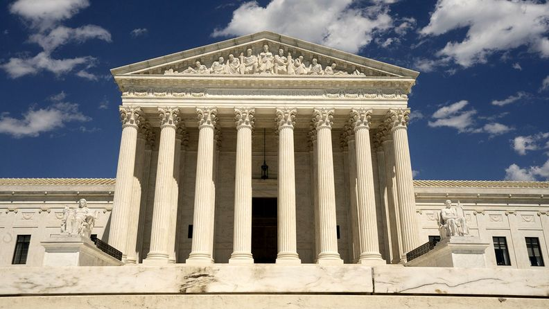 The U.S. Supreme Court building stands in Washington, D.C., U.S., on Saturday, May 30, 2020